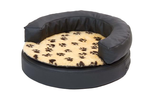 orthop disches hundebett soft style rund 50cm schwarz. Black Bedroom Furniture Sets. Home Design Ideas