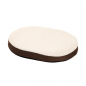Preview: Karlie Ortho Bed Mini - Oval, Braun 55 x 40 x 7 cm