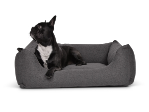 Hundebett Worldcollection Silverline 90x70 cm antharzit