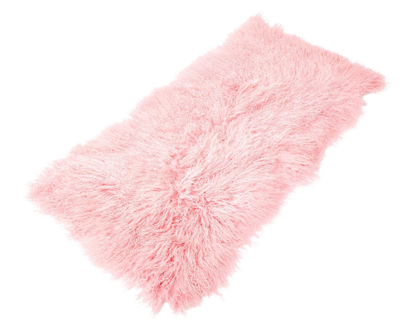 tibet lammfell teppich rechteckig ros rosa. Black Bedroom Furniture Sets. Home Design Ideas
