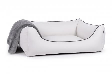 world hundebett kunstleder weiss 90x70 cm. Black Bedroom Furniture Sets. Home Design Ideas